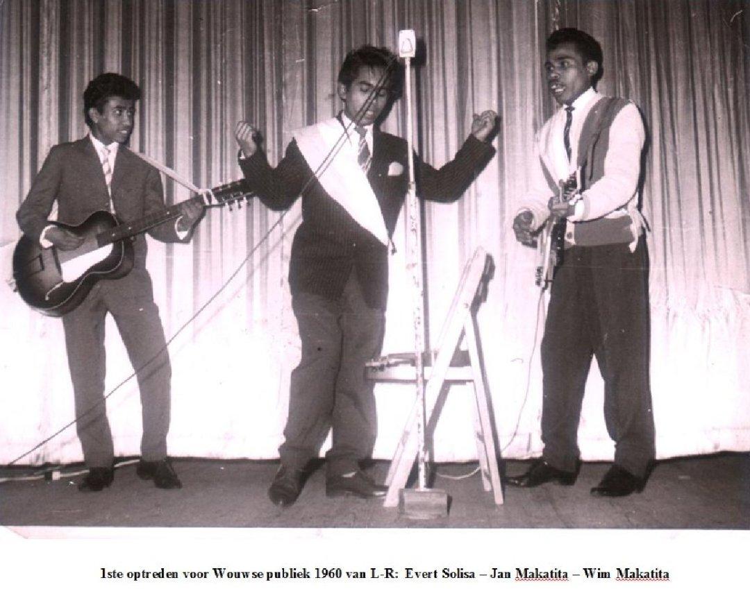 1ste optreden voor wouwsw publiek 1960
