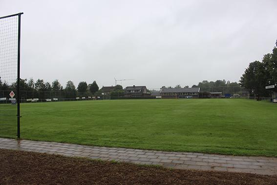 De lokatie van woonoord de Haar te Randwijk is nu een voetbalveld